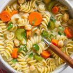 Суп с нутом и макаронами