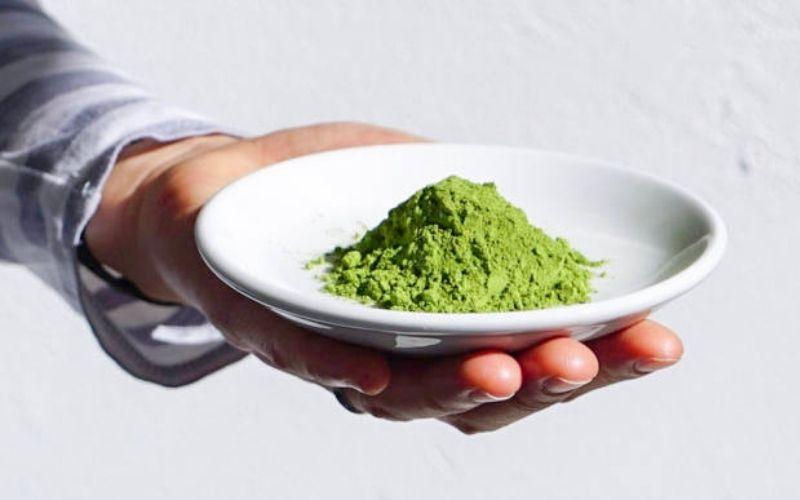 Маска для лица с зелёным чаем матча