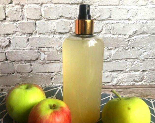 Смывка для волос с яблочным уксусом